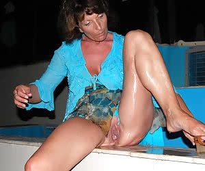 Mature housewives go wild and horny after the sun goes down