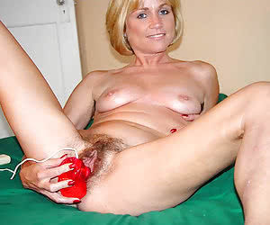 Lady showing off her toys collection